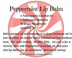 peppermint lip balm doterppermintdiy