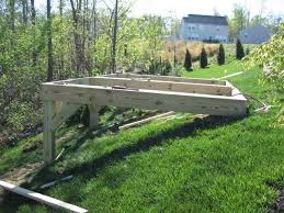 building a shed on big slope the garage journal board backyard magnificent sloping