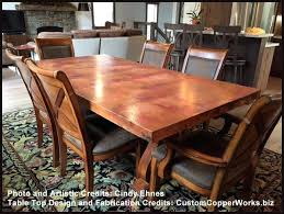 metal kitchen table. Copper Kitchen Table Tops Top Dining Tables Bath Sets . Metal O