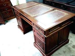 desks office desk leather top desks by on chalk protectors pedestal twin writing green replacement