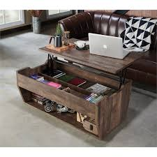 The baskets are an opportunity to further customize and update your personal style while offering plenty of room to hide away pillows, magazine or toys. Furniture Of America Edwards Rustic Wood Storage Coffee Table In Reclaimed Oak Walmart Com Walmart Com