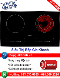 Bếp từ kết hợp hồng ngoại Kaff KF 073IC nhập khẩu Malaysia, bếp điện từ, bếp  điện từ đôi âm, bếp điện từ đôi, bếp điện từ đôi đức, bếp điện từ