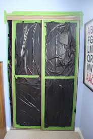 painted closet doors a diy on spray painting outdated mirrored doors