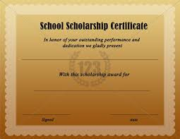scholarship award certificate templates scholarship award certificate template free free download school