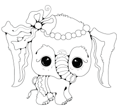 Printable Baby Elephant Coloring Pages