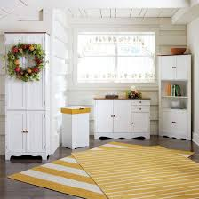 free standing kitchen cabinets. Best Update Free Standing Kitchen Cabinets: Tall Cabinets In White With Shag