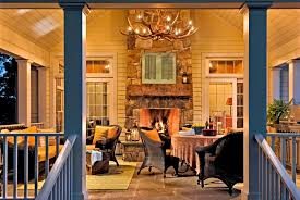 image of new front porch chandeliers