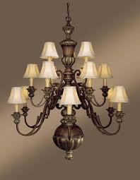 fifteen light wood up chandelier