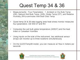 Humidex Chart Canada Quest Temp 34 36 Thermal Environmental Monitors Ppt
