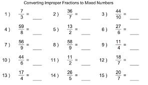 Mixed Numbers Worksheets   Homeschooldressage.com