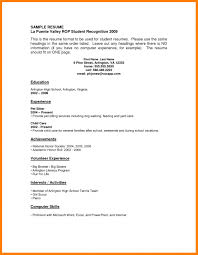 11 Resume Examples No Work Experience Letter Signature Resume