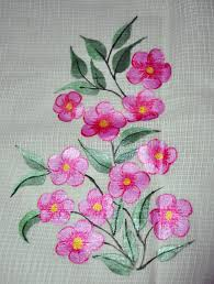 fabric painting on a saree