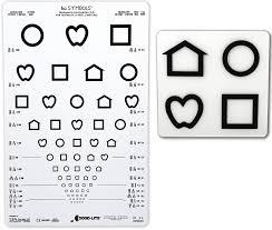 Pediatric Vision Screening Charts Lea Symbols 13 Line Translucent Distance Chart