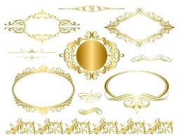 gold frame border vector. Perfect Gold Gold Frame Border Zoom Design   On Gold Frame Border Vector D