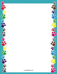 Small Picture There are colorful dog paw prints on the sides of this printable