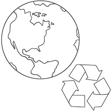 This Planet Earth And Recycling Coloring