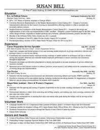 ... Fancy Idea Political Resume 5 Political Science Internship Resume ...