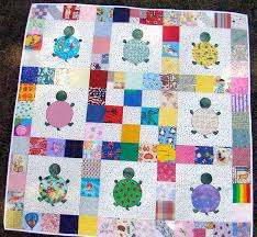 Turtle Quilt-each piece of fabric is collected from family ... & Turtle Quilt-each piece of fabric is collected from family & friends and  made into Adamdwight.com