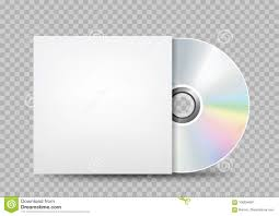 Cd Paper Case Compact Disc White Cover Transparent Stock Vector Illustration Of