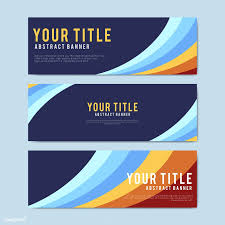Creative Banner Design For Website Colorful And Abstract Banner Design Templates Free Image