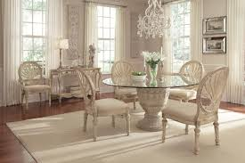 schnadig empire ii 5 piece round pedestal gl top table and oval back chair dining set bigfurniture dining 5 piece sets