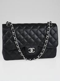 the chanel black quilted caviar leather classic jumbo flap bag is perhaps the most sought after bag in chanel s classic collection which continually
