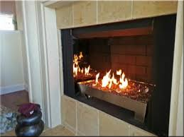 how to clean propane fireplace glass pictures