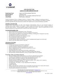 Resume For Linux Administrator Experience Resume For Your Job
