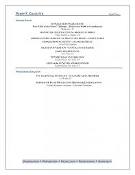 Culinary Arts Resume Template Best of Culinary Arts Resume Ophionco