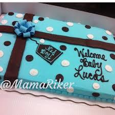 Baby shower Full sheet cake Buttercream Gum paste bow It s a boy
