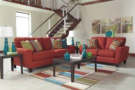 Microfiber Living Room Set Sadie Sofa Loveseat Living Room Set 2pc Modern Contemporary Red