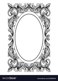 Vintage frame design oval Powerpoint Border Vintage Mirror Oval Frame French Luxury Vector Image Vectorstock Vintage Mirror Oval Frame French Luxury Royalty Free Vector