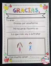 Teacher Appreciation Letter Freebie In Spanish English By Sra Cruz