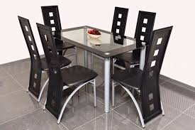 modern glass dining table and chairs set square cut outs bargain clearance on sets