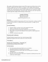 Private Duty Cna Resume Sample Unique Cna Cover Letter Sample Image