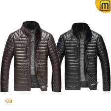 mens leather down filled cw860035 jackets cwmalls com