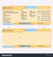 Airline Ticket Template Word Impressive 48 Images Of Australian Airline Tickets Template Leseriail
