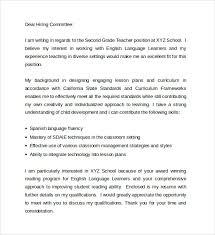 Cover Letter For Teacher Position Example Samples Cover Letter Cover Letters  For Teachers word templates cover letter