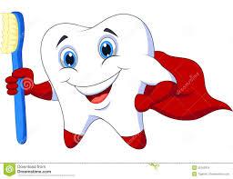 Personnage De Dessin Anim Dentaire De Mascotte De Superh Ros De