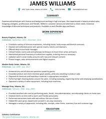 Esthetician Resume Examples Fascinating Esthetician Resume Sample Resumelift Within Resume Examples