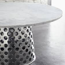 como round marble top dining table by paola navone a truly stunning combination photo courtesy crate and barrel