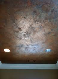 Knockdown Textured Ceiling Knock Down Textured Finish With Metallic Waxes On Ceiling By
