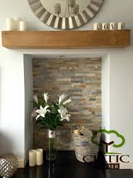 solid french oak beams floating shelf mantle piece fire place surround inglenook