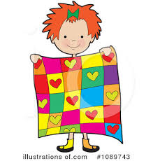 Quilt Clipart #1089743 - Illustration by Maria Bell & Royalty-Free (RF) Quilt Clipart Illustration #1089743 by Maria Bell Adamdwight.com