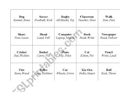 Easy Taboo Vocab Cards Esl Worksheet By Sam_ash