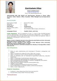 Curriculum Vitae Resume Samples Nguonhangthoitrang Net