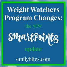 Weight Watchers Point Value Chart New Weight Watchers Smartpoints Program Emily Bites