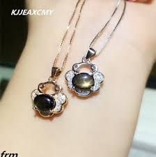kjjeaxcmy boutique jewelry natural star sapphire female pendant 925 silver wild jewelry whole
