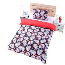 new sugar skull bedding duvet cover set twin full queen ca us size bed sheets in bedding king queen comforter sets set y pattern sugar skull