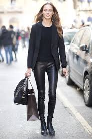 how to wear leather pants anywhere